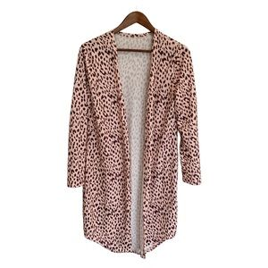 NWOT BOUTIQUE Leopard Cheetah Cardigan Size Small